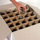 PACK CROISILLONS pour 75 VERRES - Agencement intérieur pour carton vaisselle