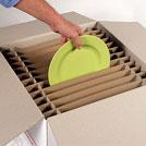 PACK CROISILLONS pour 48 ASSIETTES - Agencement intérieur pour carton vaisselle